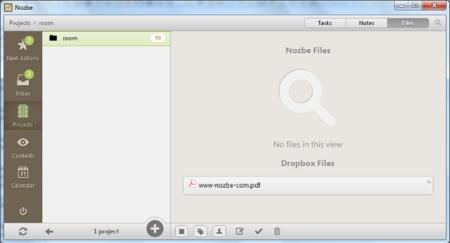 Dropbox y Nozbe