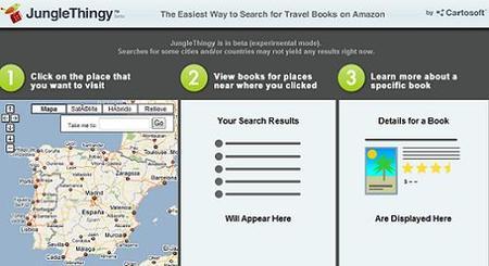 JungleThingy, encuentra tu guía o libro de viaje a través de Google Maps