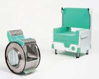 Cómo convertir tu vieja lavadora en unas sillas de lo más originales