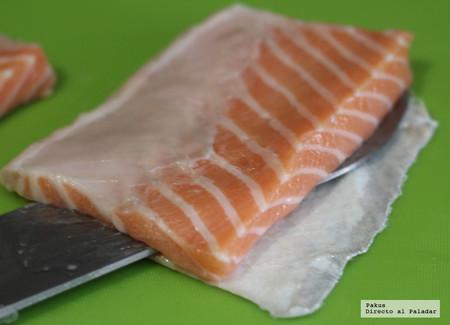 Cortar Salmon Sacarle Partido