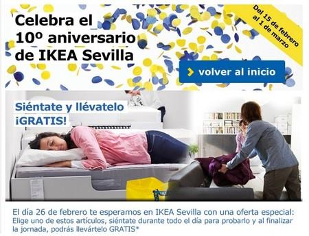 Ikea Sevilla regalará muebles a quien pase 10 horas probándolos. ¡Solo mañana!