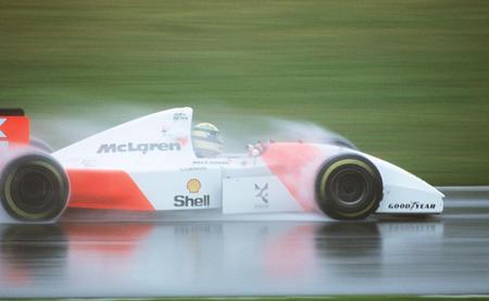 Ayrton Senna lluvia GP Europa F1 1993