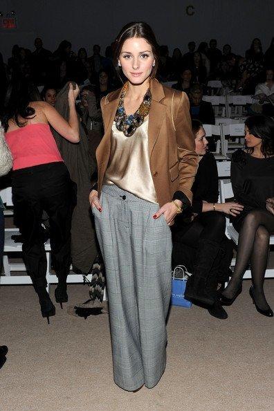 Blazer y pantalón para el día de la graduación Primavera-Verano 2010: las famosas evitan los vestidos. Olivia Palermo