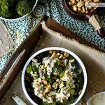 Brócoli al vapor con aliño de tahini y limón. Receta ligera