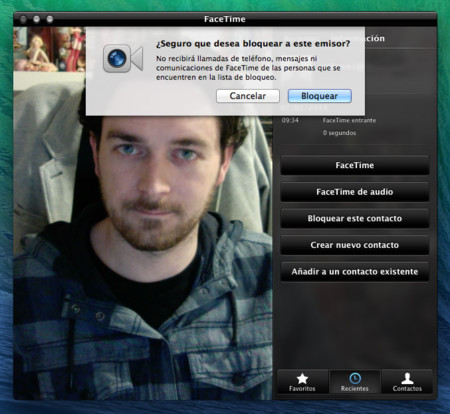 Llamadas FaceTime Audio OS X