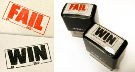 Sellos marcadores de FAILs y WINs