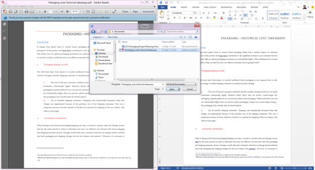 Word PDF Reflow