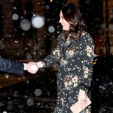 Kate Middleton no le teme a las inclemencias del tiempo y hasta bajo una tormenta de nieve derrocha estilo