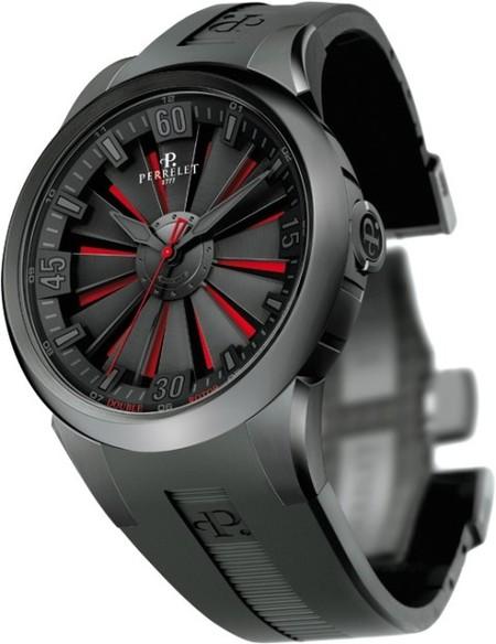 Perrelet Turbine: rojo, negro, titanio
