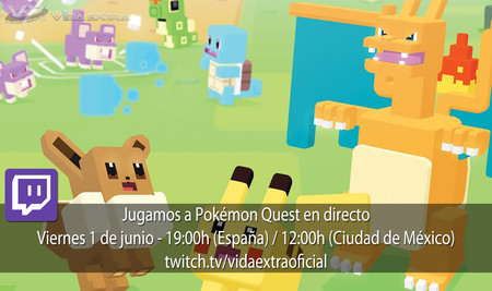 Streaming de Pokémon Quest a las 19:00h (las 12:00h en CDMX)