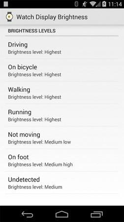 Display Brightness para Android Wear