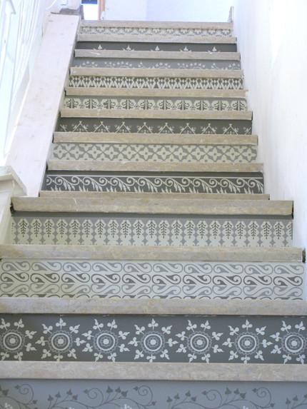 La escalera terminada