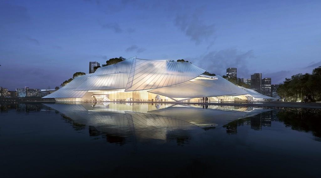 Un teatro flotante que parece un barco ¿O quizás un invernadero?