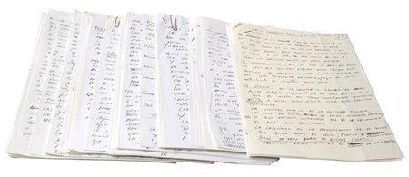 Subastan un manuscrito de Ferrán Adrià
