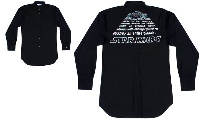 Comme des Garcons Star Wars camisa negra 2