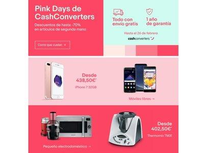 Pink days en eBay: hasta el 26 de febrero hasta un 70% de descuento en artículos usados de Cash Converters con envío gratis