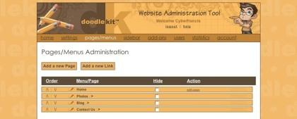 Doodlekit, sencillo editor de sitios web