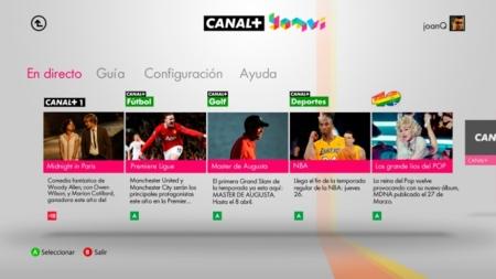 Canal Plus Yomvi se pasa por fin a la Xbox 360