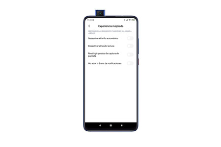 Xiaomi Game Launcher Opciones