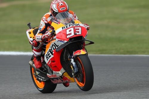 Marc Márquez se rebela contra el dominio de las Ducati en el primer día de entrenamientos en el GP de Aragón