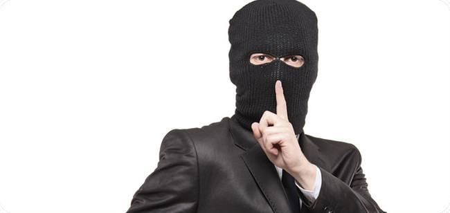 Ladrón mandando callar