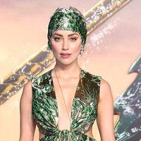 El fascinante look acuático de Amber Heard en el estreno de Aquaman