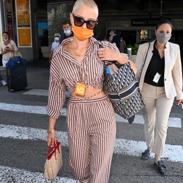 El dos piezas que Iris Law ha llevado en su llegada a Cannes es de Mango y todavía está disponible