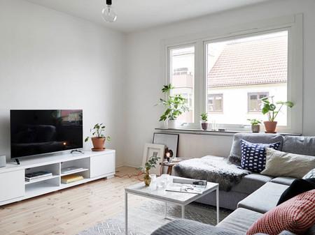 Piso n rdico funcionalidad con muebles de ikea for Salones modernos para pisos pequenos