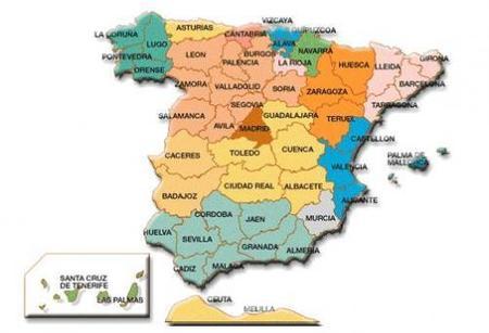 Mapa con los porcentajes de cesáreas de los hospitales españoles