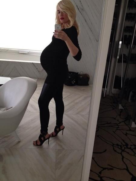 """¡Al rico """"selfie"""" de Gwen Stefani embarazadísima y estupenda!"""