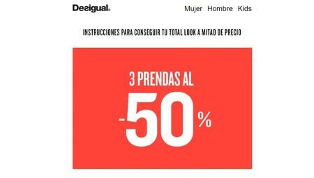 3x50% en camisas, camisetas y denim para hombre en Desigual con envío gratis incluido