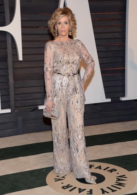 Jane Fonda en la fiesta Vanity Fair