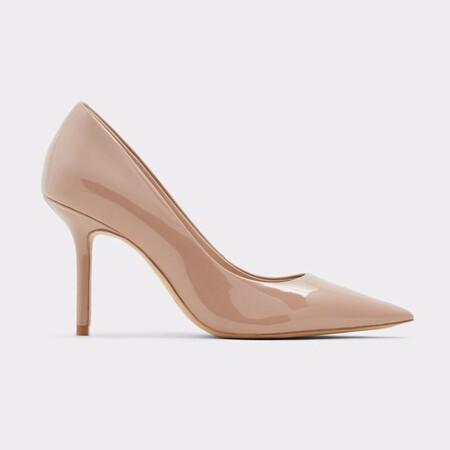 Zapatos de salón de mujer Aldo con tacón de aguja en color natural de charol