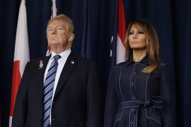 Melania Trump viste de Hervé Pierre en los actos conmemorativos del 11 de setiembre en EEUU
