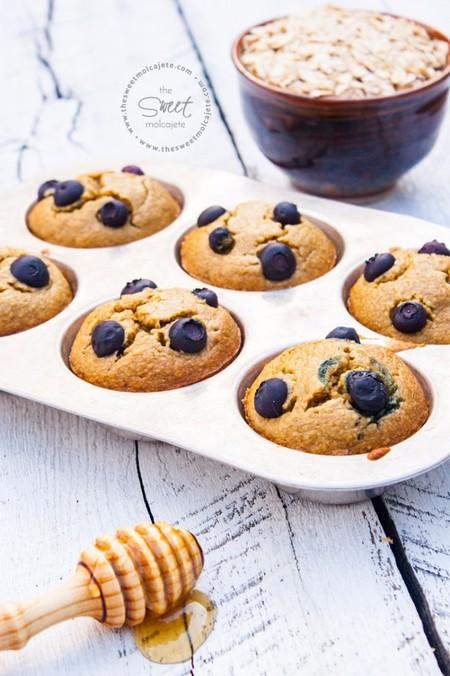Receta De Muffins De Avena Con Moras Sin Gluten 1