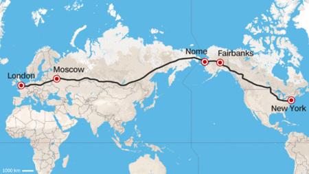 ¿Una autovía intercontinental de Londres a Nueva York? Eso proponen desde Rusia