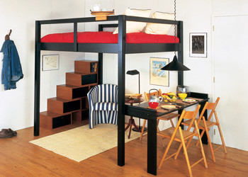 la cama en el techo versi n i. Black Bedroom Furniture Sets. Home Design Ideas