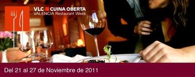 Valencia Cuina Oberta Restaurant Week V