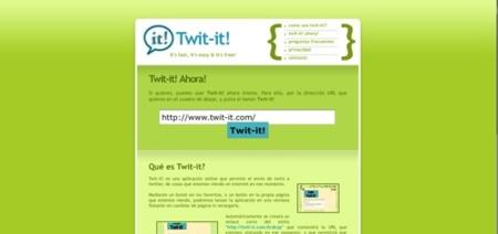Twit-it, comparte las páginas que visitas o post que lees en Twitter de forma directa