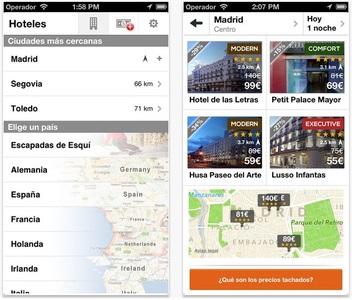 Aplicaciones viajeras: Blink Hotels