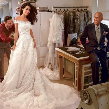 ¿Quieres casarte como Amal Alamuddin con George Clooney? Hazte con el vestido de novia de Oscar de la Renta