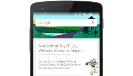 Busca lo que quieres comprar, que Google Now te avisa cuando pases delante de una tienda
