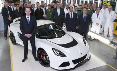 Lotus fabrica el Exige S número 1.000
