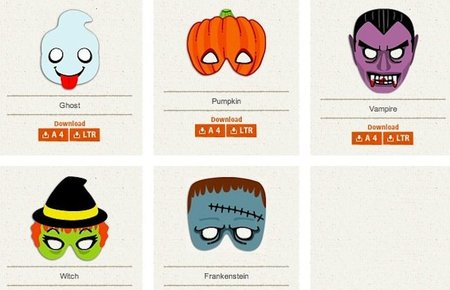 Máscaras de Halloween para imprimir