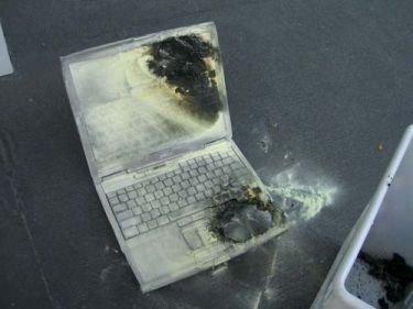 Otro caso de un portátil Dell que arde