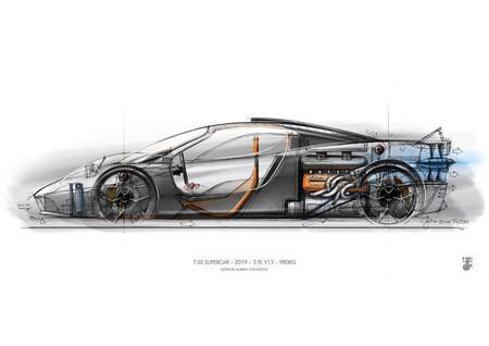 El reto de superar al McLaren F1: el Gordon Murray T.50 pesa menos que un Lotus y esconde un V12 de 650 CV