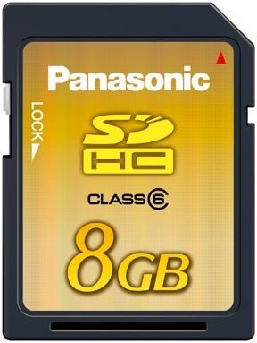 Tarjeta Panasonic SDHC de 8 GB