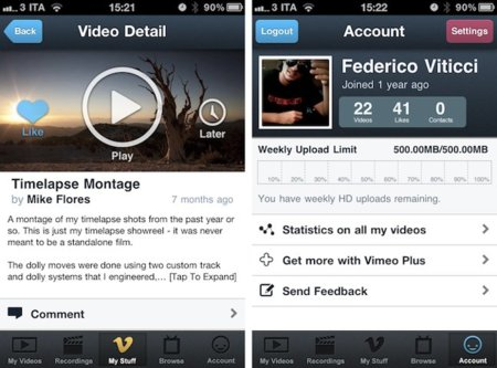 Vimeo para iPhone ya disponible en la App Store