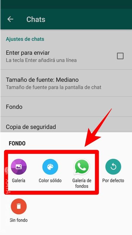 Como cambiar fondo del whatsapp