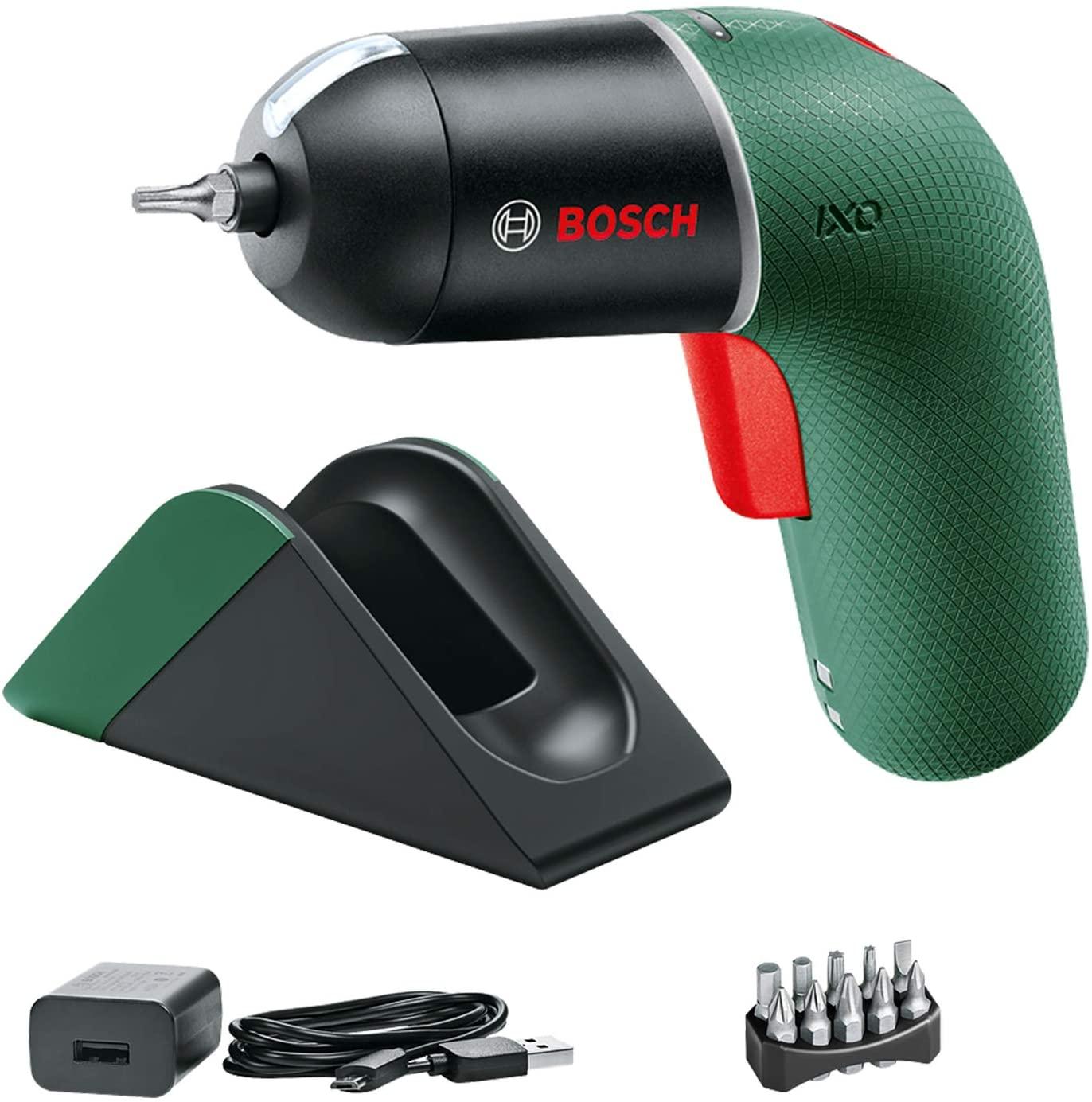 Bosch DIY Tools 06039C7101 Set con estación de carga Atornillador a batería IXO (6 generación, control de velocidad variable, en caja)
